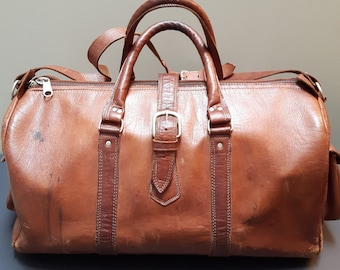 b61f478f2a Vintage Leather Duffle Bag