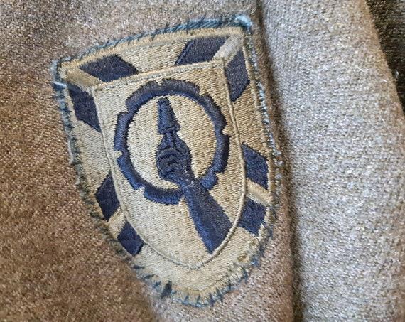 Vintage Army Military Jacket Wool Coat Battledres… - image 8