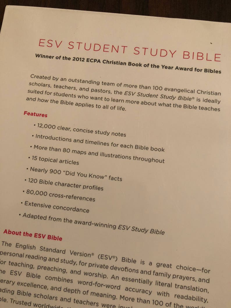 PERSONALIZED ** ESV Student Study Bible - Coral Trutone ** Custom Imprinted