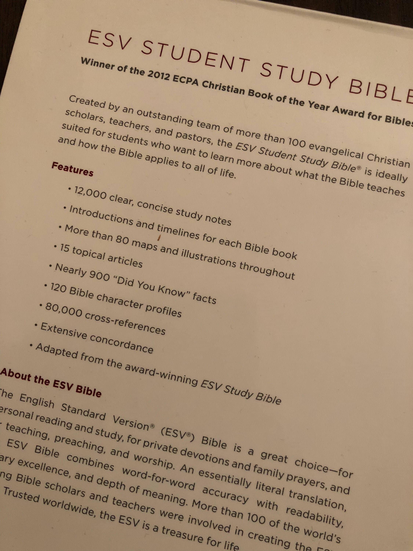 PERSONALIZED ** ESV Student Study Bible - Chestnut Trutone ** Custom