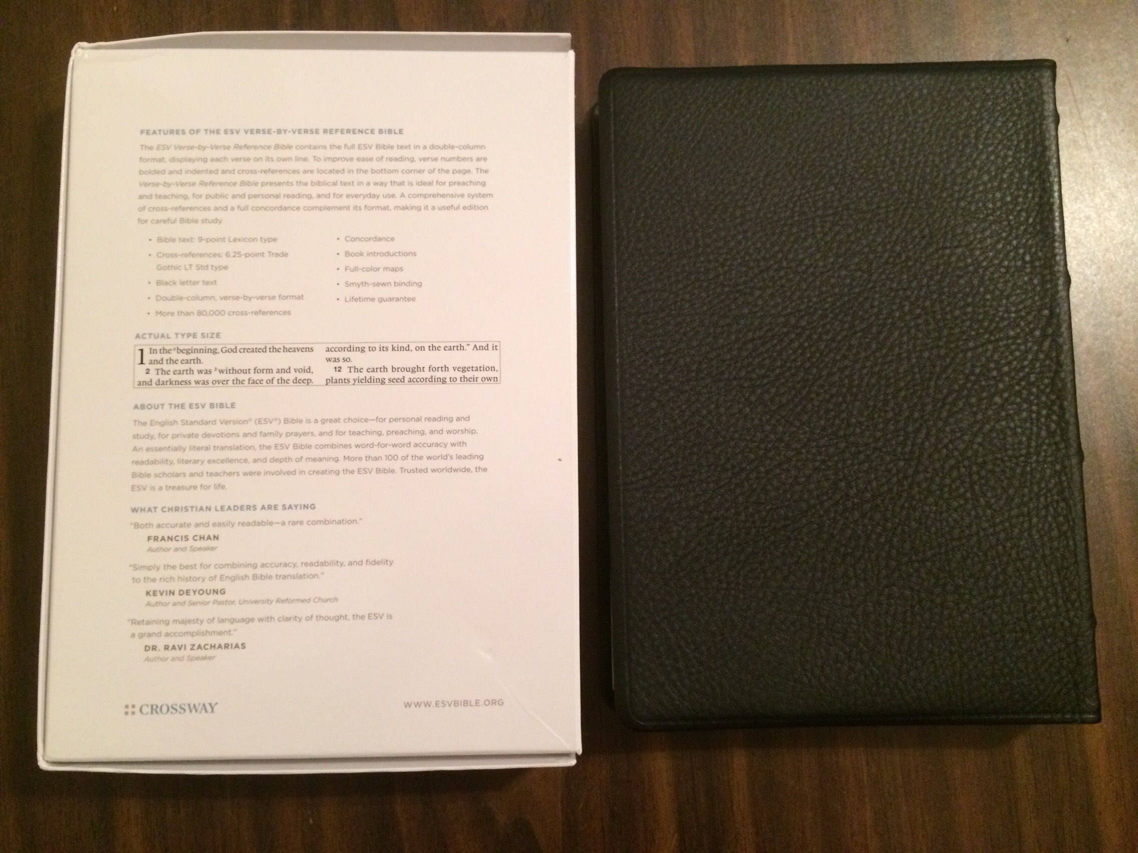 PERSONALIZED ** ESV Verse by Verse Reference Bible - Black