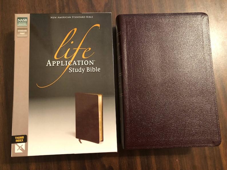 life application study bible kjv indexed
