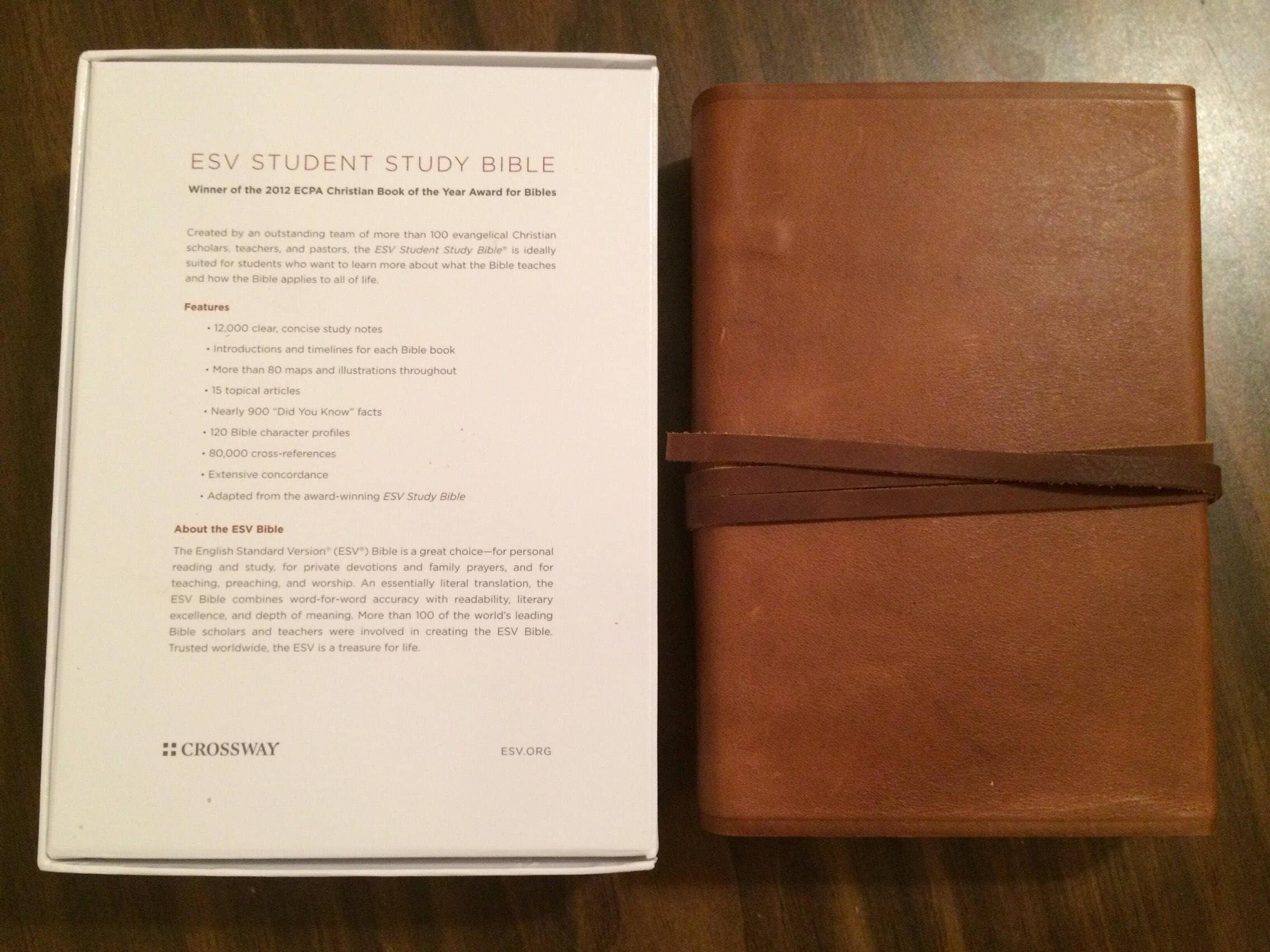 PERSONALIZED ** ESV Student Study Bible - Brown Natural
