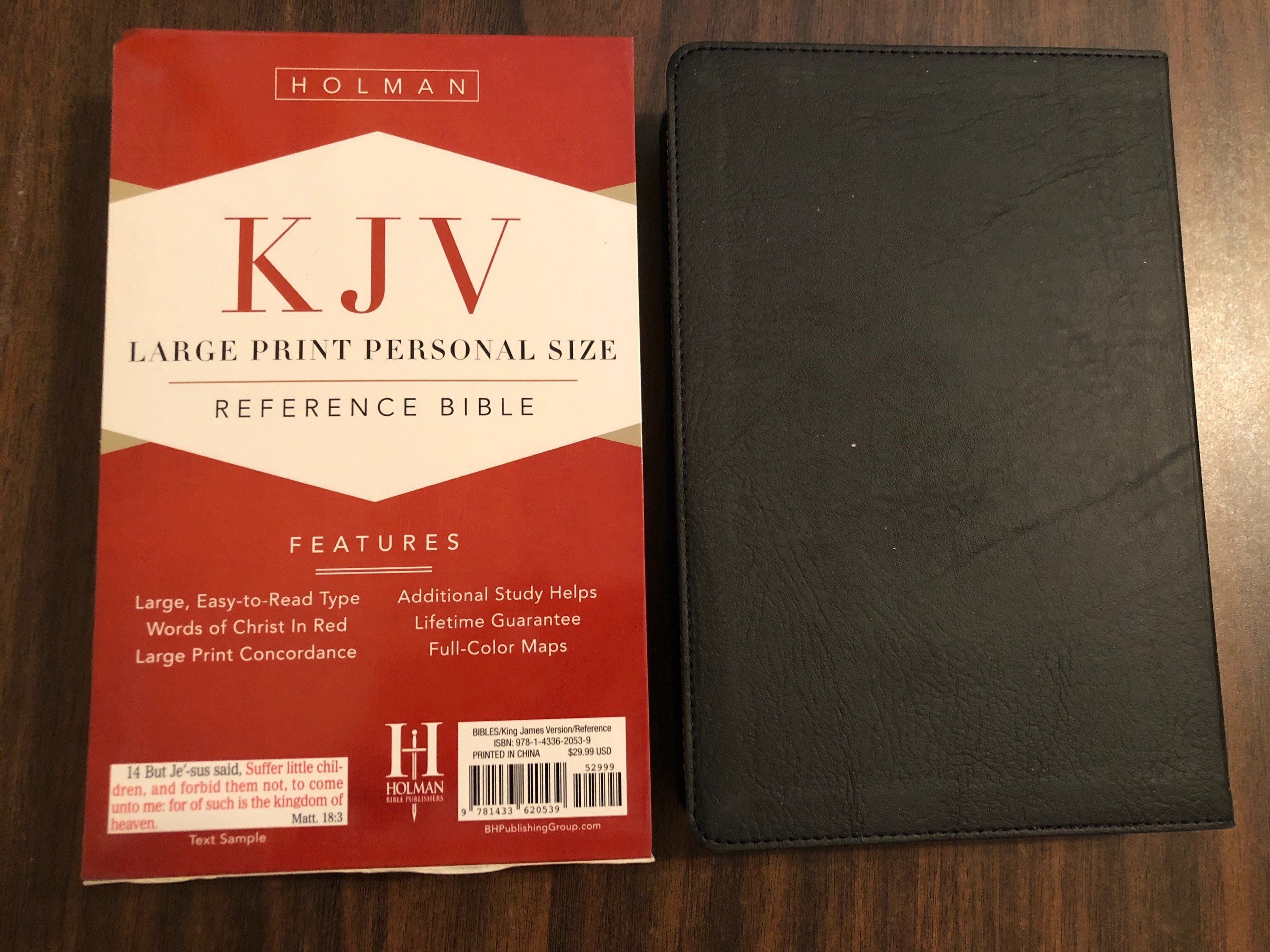 PERSONALIZED ** KJV Large Print Reference Bible Indexed