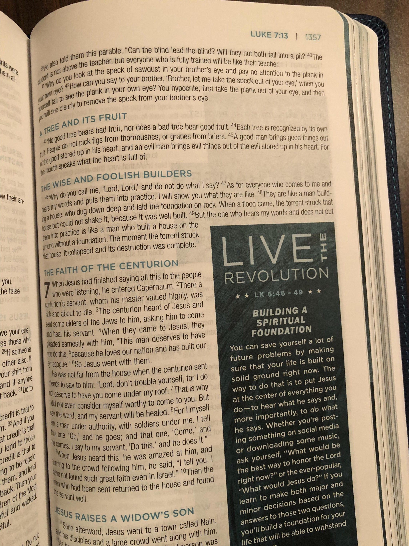 PERSONALIZED ** NIV Revolution Teen Study Bible - Blue