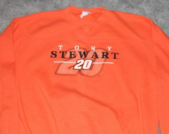 Vintage 90s 2000s Nascar Racing Clothing Tony Stewart Home Depot Men Size  Large or Oversized Womens Retro Embroidered 20 Crewneck Sweatshirt 570c78d76