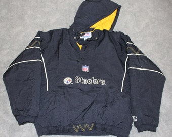 ebc711fd569 Vintage 90s Clothing NFL Pro Line Pittsburgh Steelers Football Starter Men  Size XL   Oversized Womens Retro Logo Long Sleeve Winter Jacket