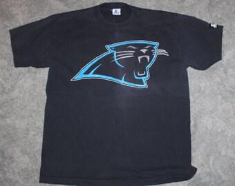de66fea0f Vintage 90s Clothing NFL Carolina Panthers Football Starter Men Size Large  or Oversized Womens Retro Logo Double Side Short Sleeve T Shirt