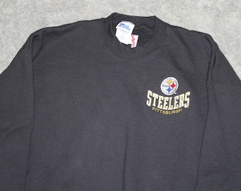 19dbb8aa91c Vintage 90s Clothing NFL Pittsburgh Steelers Football Men Size XXL    Oversized Womens Retro Spell Out Logo Long Sleeve Crewneck Sweatshirt