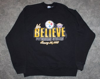 6fd2ba80 Vintage 90s Clothing NFL Pittsburgh Steelers Football Super Bowl Men Size  XL or Oversized Womens Retro Logo Long Sleeve Crewneck Sweatshirt
