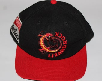 8394c830fb5 Vintage 90s Clothing Marlboro Classic Cigarette Adventure Team Adjustable  One Size Fits All Adult Retro Spell Logo Snapback Baseball Cap Hat
