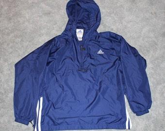 b92b6f843 Vintage 90s Clothing Adidas Sportswear Men Size Medium / Oversized Womens  Retro Embroidered Spell Out Logo Half Zip Windbreaker Track Jacket