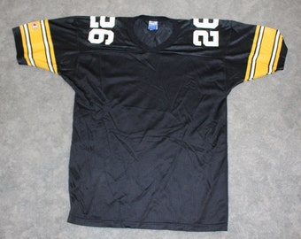 36b3f2def Vintage 90s Clothing NFL Rod Woodson Pittsburgh Steelers Football Champion  Men Size Large   Oversized Womens Retro  26 Mesh Football Jersey