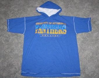 best cheap 12d23 8698f Vintage 90s Clothing University of Pittsburgh Pitt Panthers Men Size XXL    Oversized Women Retro Logo Short Sleeve College Hoodie Sweatshirt