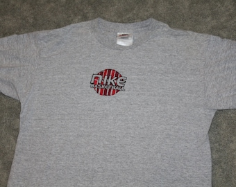 ed39a7958d87 Vintage 90s Clothing Nike Sportswear Basketball Men Size Small or Oversized  Womens White Tag Retro Swoosh Court Print Short Sleeve T Shirt