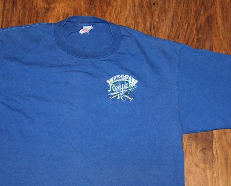 da44b2c2 Vintage 90s Clothing MLB Kansas City Royals Baseball Men Size Large /  Oversized Womens Retro Embroidered Spell Out Logo Short Sleeve T Shirt