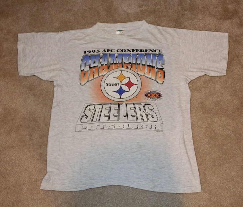 outlet store 1774d 92878 Vintage 90s Clothing NFL Pittsburgh Steelers Football Super Bowl XXX Men  Size Large / Oversized Womens Retro Logo Print Short Sleeve T Shirt