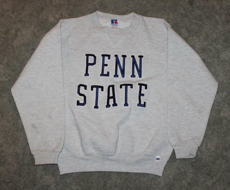 f9deaf94 Vintage 90s Clothing University of Penn State Nittany Lion PSU Youth Kid  Medium Retro Embroidered Spell Out Logo College Crewneck Sweatshirt