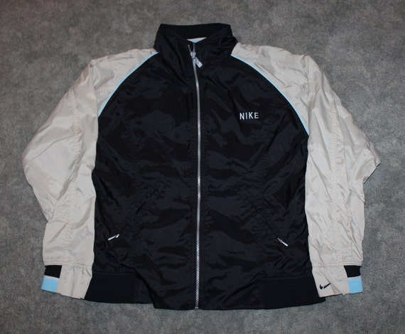 Vintage 90s Clothing Nike Air Sportswear Men Size Small Oversized Womens Retro Embroidered Swoosh Logo White Grey Tag Windbreaker Jacket