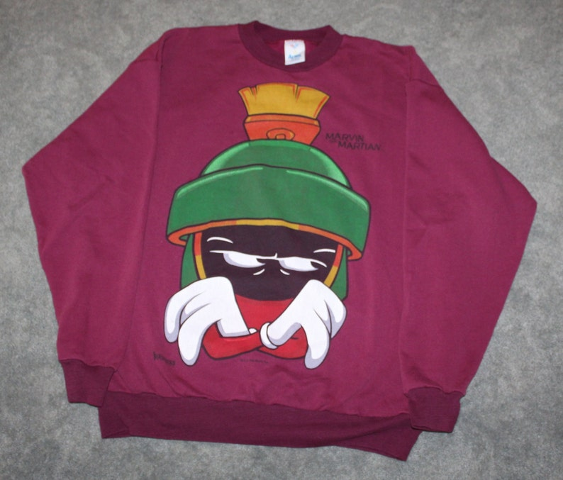 4423776e726880 Vintage 90s Clothing Looney Tunes Warner Brothers Marvin the