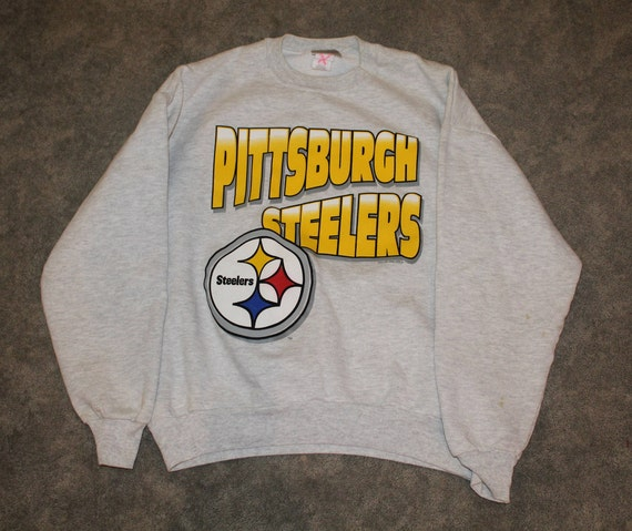 acec4e234 Vintage 90s Clothing NFL Pittsburgh Steelers Football Chalk