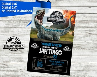 JURASSIC WORLD Invitation Jurassic World Birthday Party Invite Printable Digital File