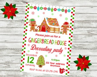 Gingerbread House Invitation Etsy
