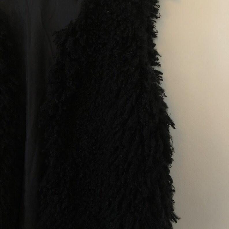 Black Faux shearling vest