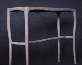 organic oak console table 100 x 30 x 75