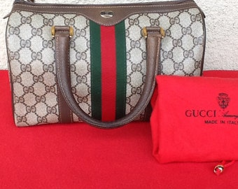 ef2fa6a73d5f Authentic Vintage Gucci Boston Doctor Supreme Bag w  Original Dust Bag  Great Condition