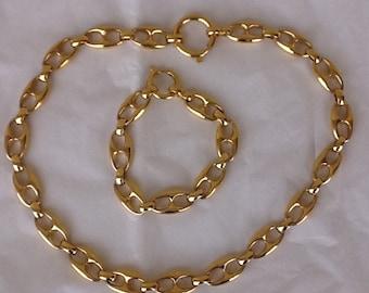 d213e4714 Vintage Gucci Inspired Goldtone Mariners Necklace & Bracelet