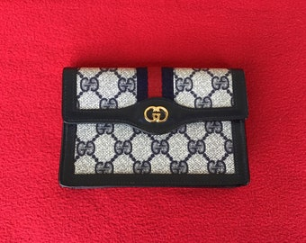 9e460e7f17f Authentic Vintage Gucci Parfums Wallet Pouch IPhone Case Made In Italy