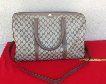960c22543d1 Authentic Vintage Gucci Large Boston Doctor Duffle Travel Supreme Bag Great  Condition