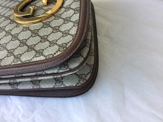 Vintage Gucci '70's Blondie Brown Canvas Bag Exce… - image 5