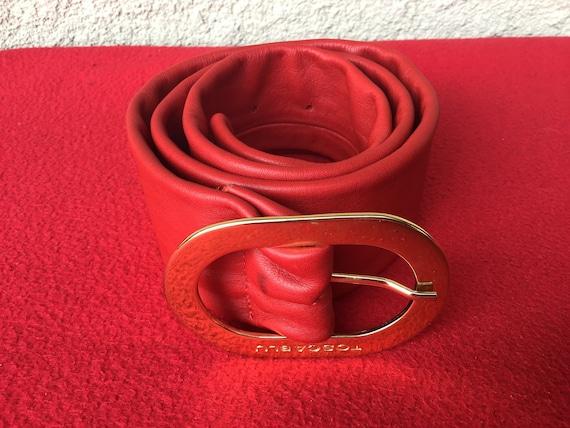 Vintage Toscablu Red Leather Belt