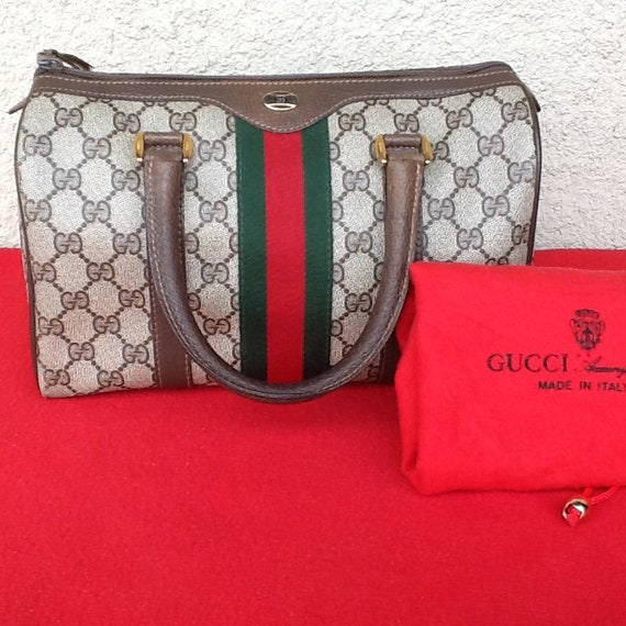 2a48819176e7 Vintage authentique sac suprême Gucci Boston docteur w     Etsy