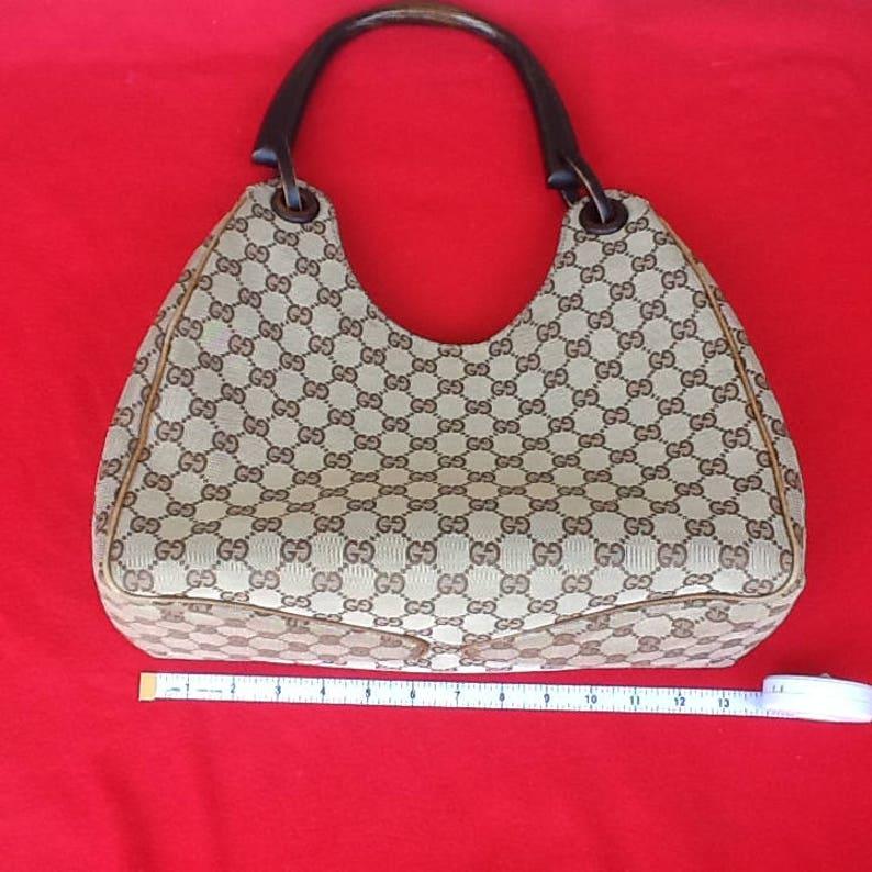 8bd9fa80680f20 Authentic Vintage Gucci Top Handle Jackie O Bag Rare | Etsy