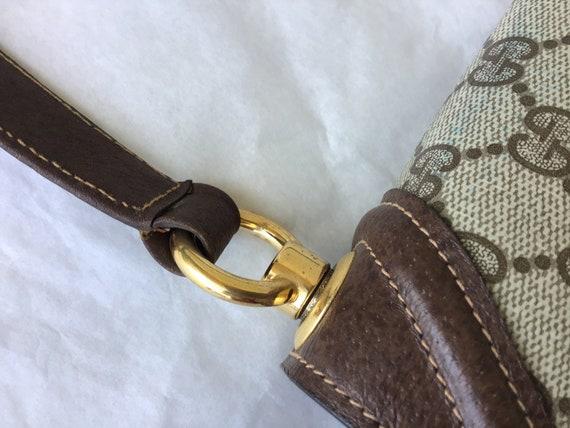 Vintage Gucci '70's Blondie Brown Canvas Bag Exce… - image 9