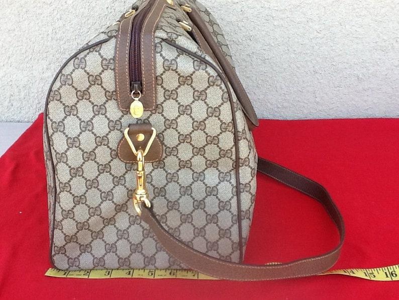 5fa70e30c706 Authentic Vintage Gucci Large Boston/Doctor Duffle Travel | Etsy