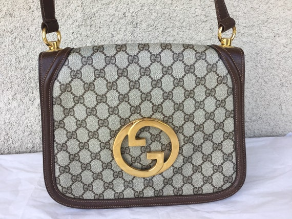 Vintage Gucci '70's Blondie Brown Canvas Bag Exce… - image 2