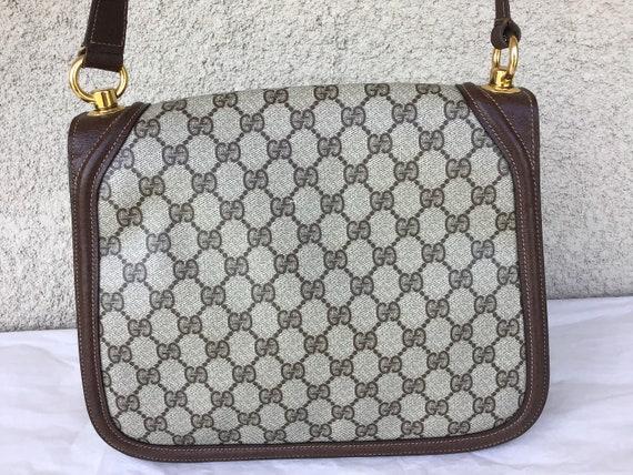 Vintage Gucci '70's Blondie Brown Canvas Bag Exce… - image 3