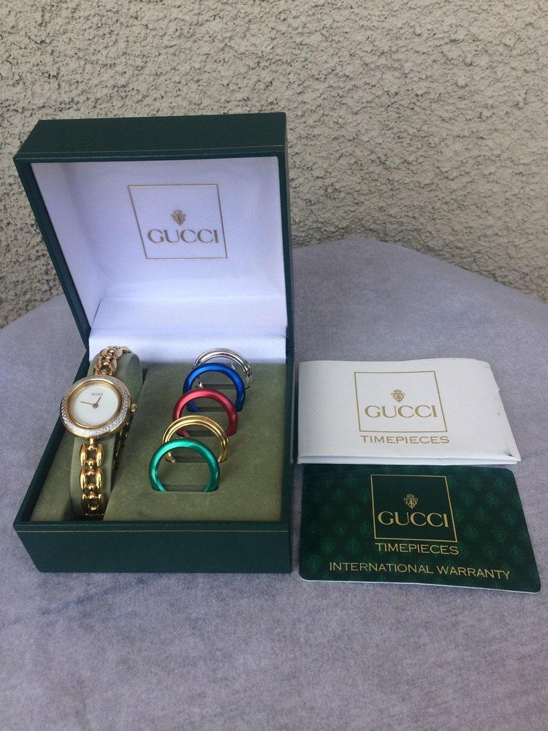 06f4d0d759e Authentic Vintage Gucci 11 12.2 Series Rice Link Bracelet