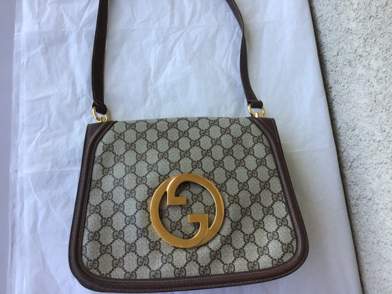 Vintage Gucci '70's Blondie Brown Canvas Bag Exce… - image 7