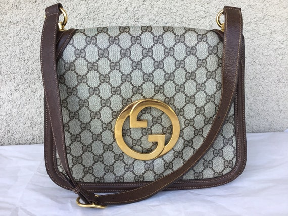 Vintage Gucci '70's Blondie Brown Canvas Bag Excel