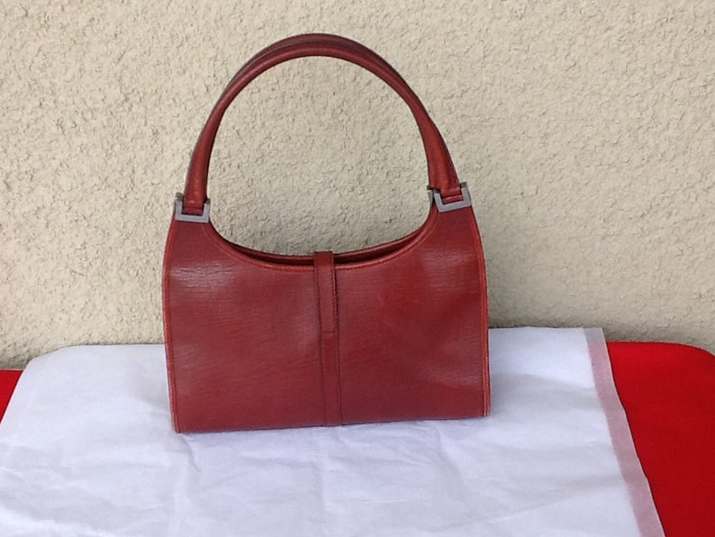 0a2823e5c819e Vintage Gucci Red Leather Jackie O Bag