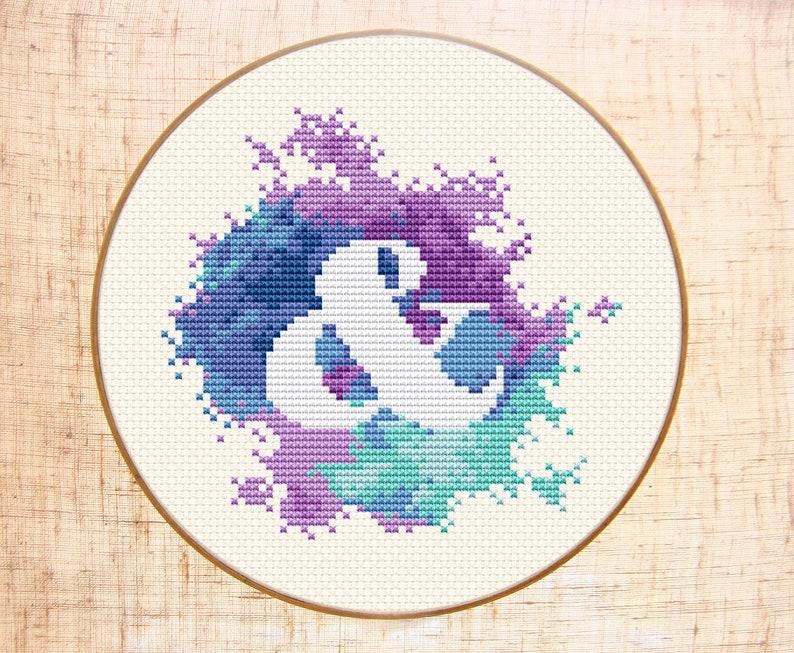 Ampersand cross stitch pattern Modern cross stitch Watercolor image 0