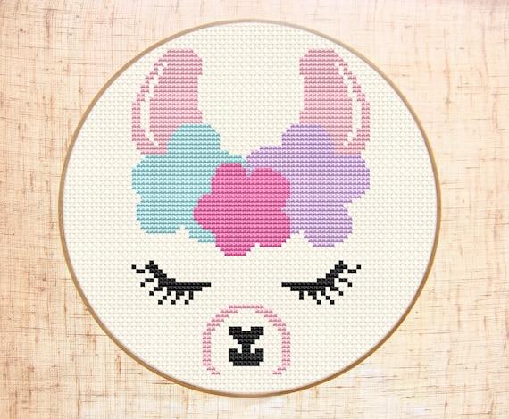 Cute Llama Cross Stitch Pattern Funny Cross Stitch Easy Etsy Magnificent Cross Stitching Patterns