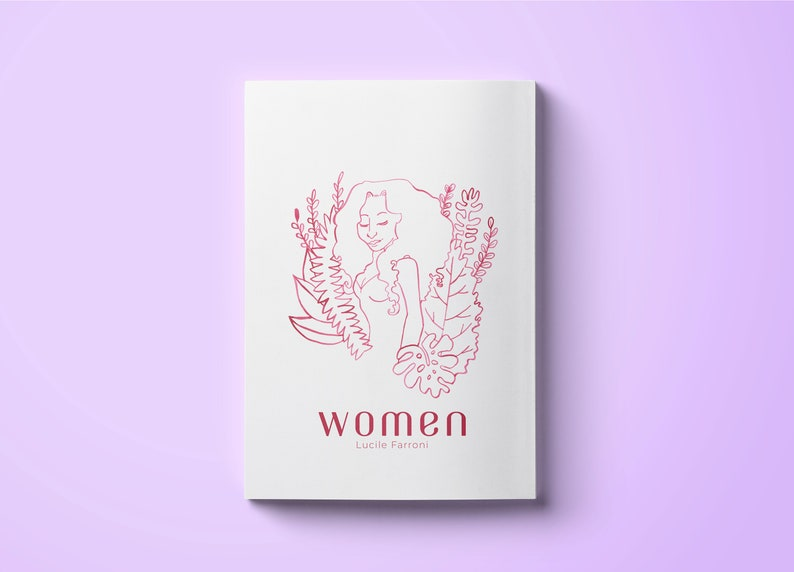 Women zine (Book PDF) ~ Lucile Farroni /// Illustration, Art, Zine artbook,  Giftbook, Illustrated book, collection, Pages Printable Download