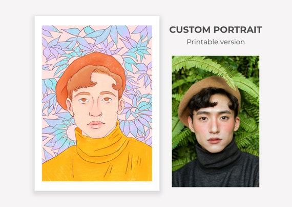 Portrait personnalisé – À imprimer ~ Lucile Farroni