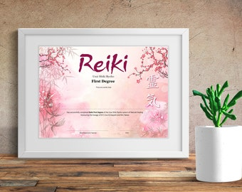Reiki Second Degree Certificate Etsy